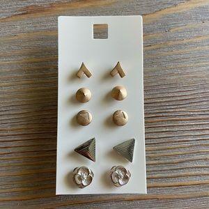 Lot of 5 post style earrings